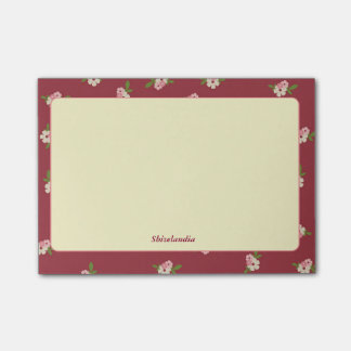 Flowery Vintage Post-It Post-it Notes