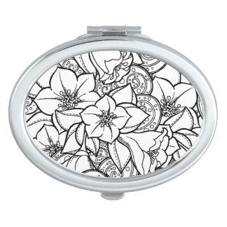 Flowery Zendoodle Mirror For Makeup