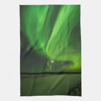Flowing Aurora Tea Towel