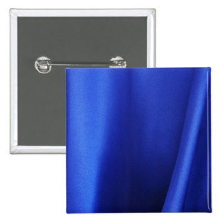 Flowing Blue Silk Fabric Abstract 15 Cm Square Badge