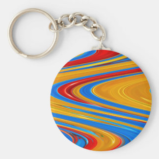 Flowing Color Abstract Key Ring