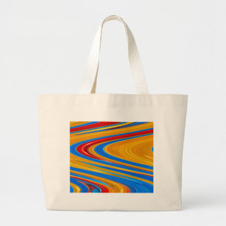 Flowing Color Abstract Large Tote Bag