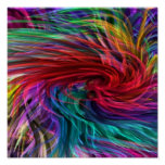 Flowing Fibre Art : Colourful Rainbow Graphics