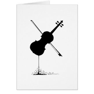 Flowing Fiddle Music Card