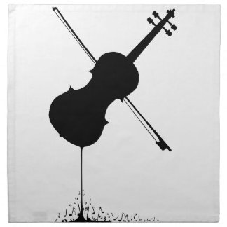 Flowing Fiddle Music Napkin