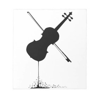 Flowing Fiddle Music Notepad