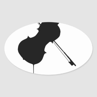 Flowing Fiddle Music Oval Sticker