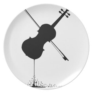Flowing Fiddle Music Plate