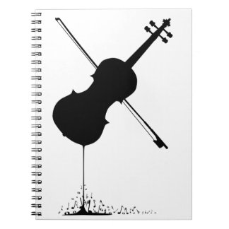 Flowing Fiddle Music Spiral Notebooks