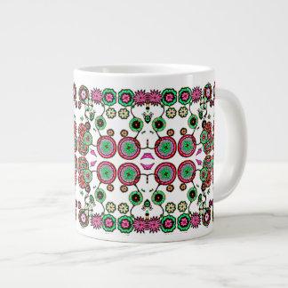 Flowing Floral Jumbo Large Mug Cup Pink Multicolor