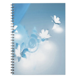 FLOWING FLORAL SPIRAL NOTE BOOK
