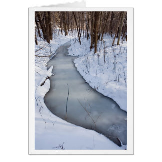 flowing frozen greeting card