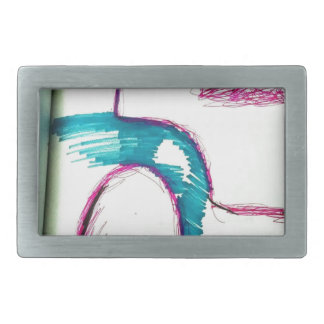 Flowing into the Next Melody Rectangular Belt Buckles