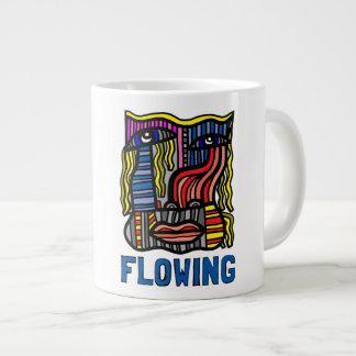 """""""Flowing"""" Jumbo Mug"""