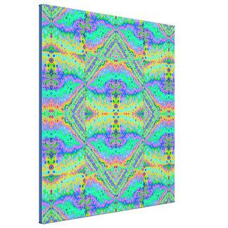 Flowing Life Organic Art Big Diamond Section, med Canvas Print