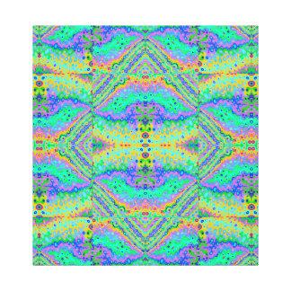 Flowing Life Organic Art Big Diamond Section, sml Canvas Print