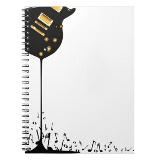 Flowing Music Spiral Note Book