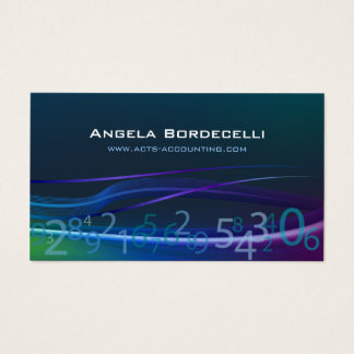 Flowing Numbers Accounting Business Card