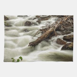 Flowing Rocky Mountain Stream Tea Towel