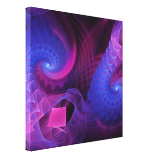 Flowing Spirals, Fractal abstract Stretched Canvas Prints