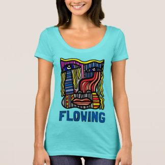 """""""Flowing"""" Women's Scoop Neck T-Shirt"""