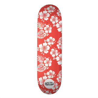 FLSC Deck Hawaii Red/White Skate Board