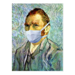 Flu Season Van Gogh With Mask