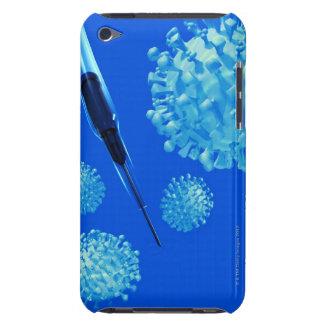 Flu vaccine, conceptual computer artwork. iPod Case-Mate cases
