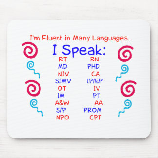 Fluent in Abbreviations Mouse Pad