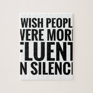 Fluent In Silence Jigsaw Puzzle