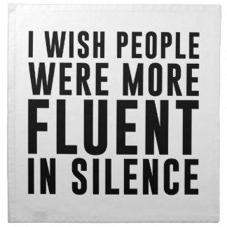 Fluent In Silence Napkin