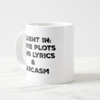 Fluent in the important things! giant coffee mug