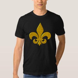 Fluer De Lis Hammered Gold T-shirts
