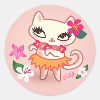 Fluff Hula Cat Sticker