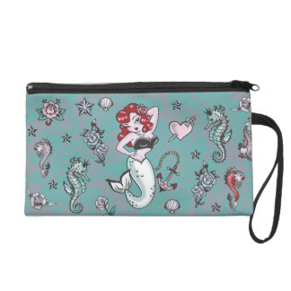 Fluff Molly Mermaid Wristlet Bag