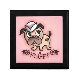 Fluff Monty Sailor Dog Jewlery Box Small Square Gift Box