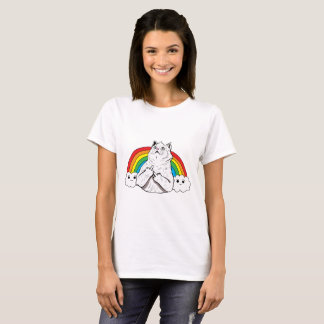 Fluff Off Rainbow Cat T-Shirt