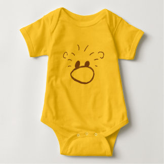 Fluffy Animal Character Baby Bodysuit