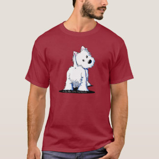 Fluffy Butt Westie Dark T-Shirt