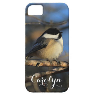 Fluffy chickadee iPhone 5 cover