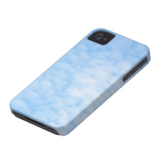 Fluffy clouds and blue sky iPhone 4 case