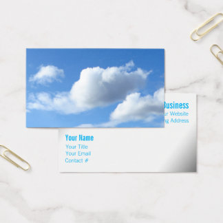 Fluffy Clouds in a Blue Sky Business Card