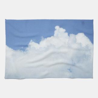 Fluffy Clouds in Blue Sky Tea Towel