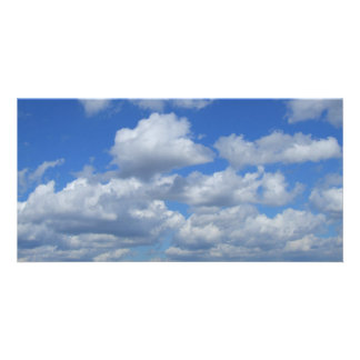 Fluffy Clouds & Skies Photo Card