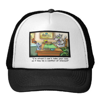 Fluffy Cohen Attorney @ Claw Funny Cat Gifts, etc Cap