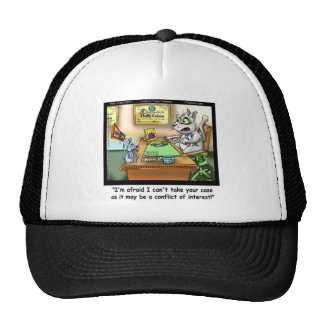 Fluffy Cohen Atty @Claw Funny Cat & Lawyer Cap