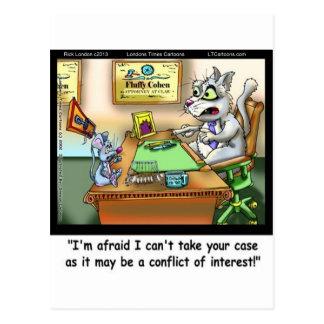 Fluffy Cohen Atty @Claw Funny Cat & Lawyer Postcard