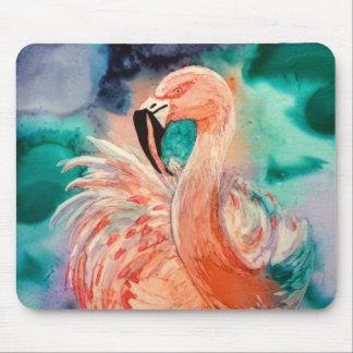 Fluffy Flamingo Mouse Pad