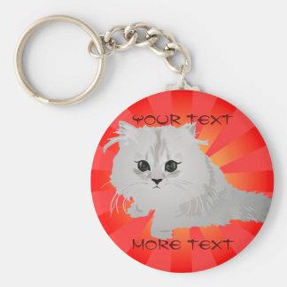 Fluffy Kitten Keychain
