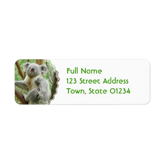 Fluffy Koala  Mailing Labels